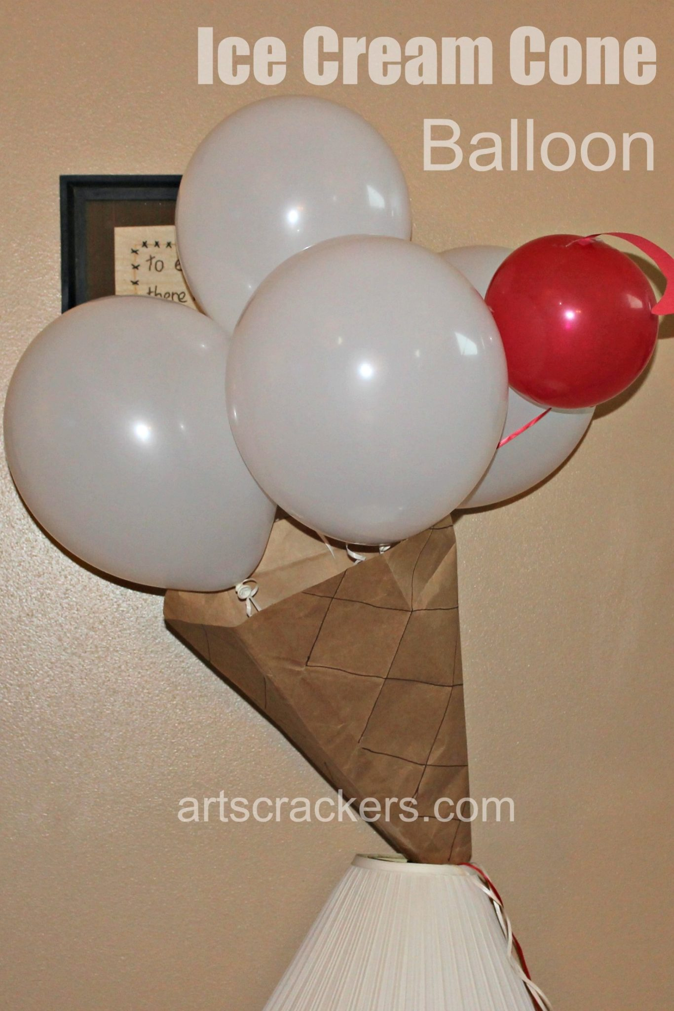 Ice Cream Birthday Party Cone Balloon. Click the picture to see more.