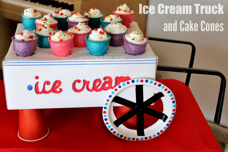 Ice Cream Birthday Party Truck and Cake. Click the picture to read more.