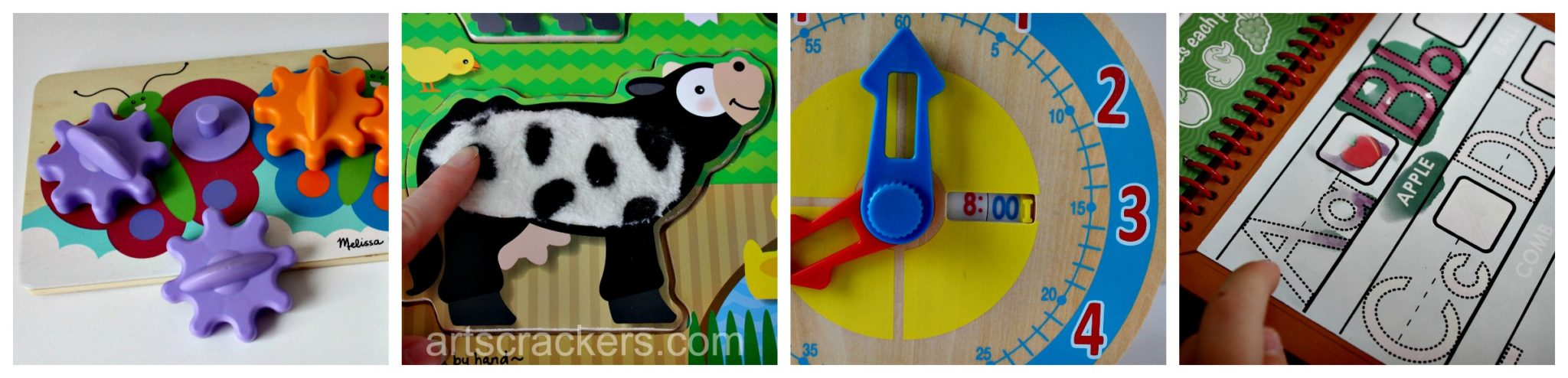 Melissa and Doug Gears, Puzzle, Clock, and Activity Pad. Click the picture to read the reviews.