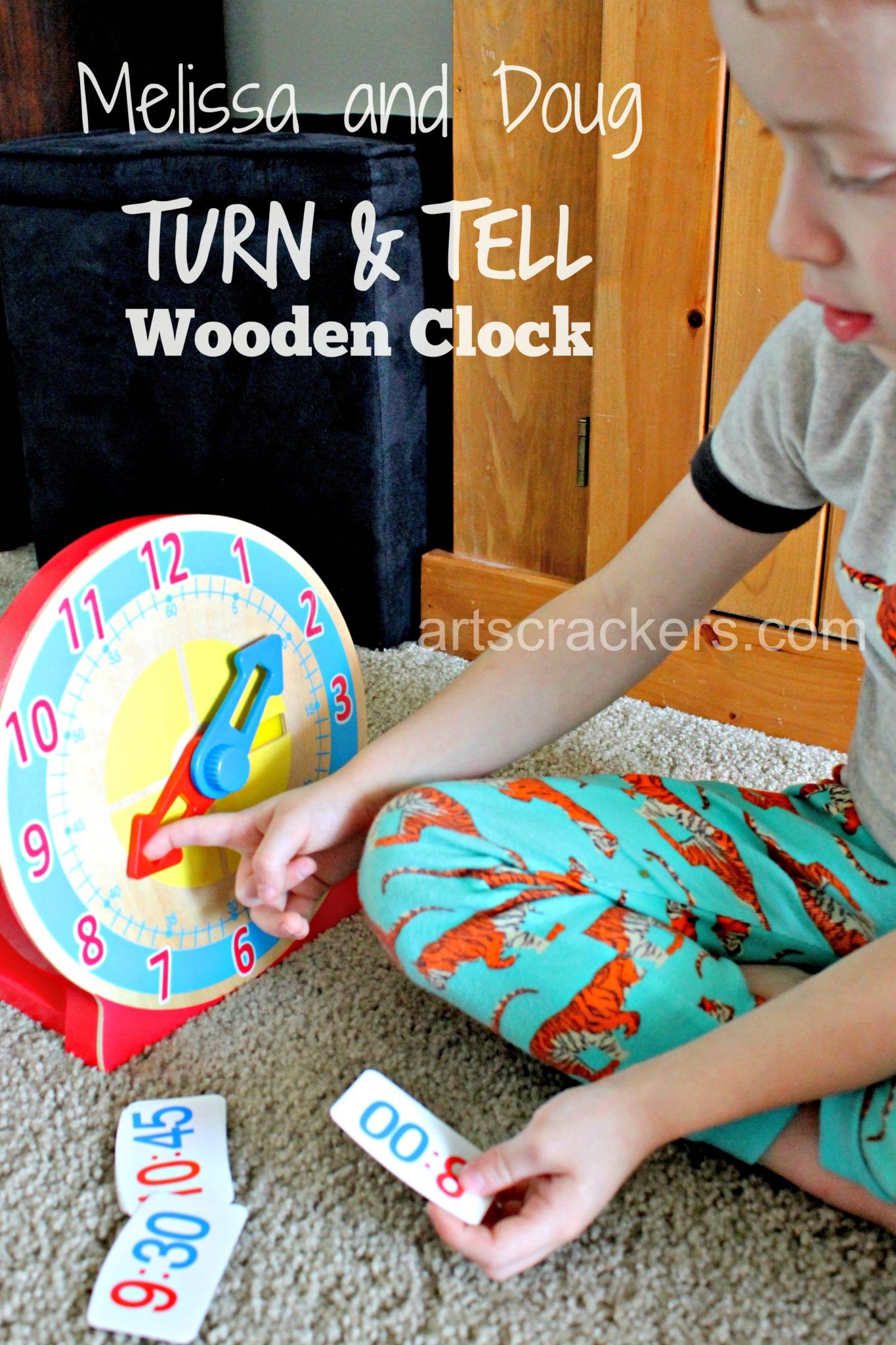 Melissa and Doug Turn & Tell Wooden Clock. Click the picture to read the review.