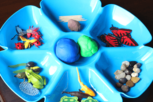 Pond Life Play Dough Invitation
