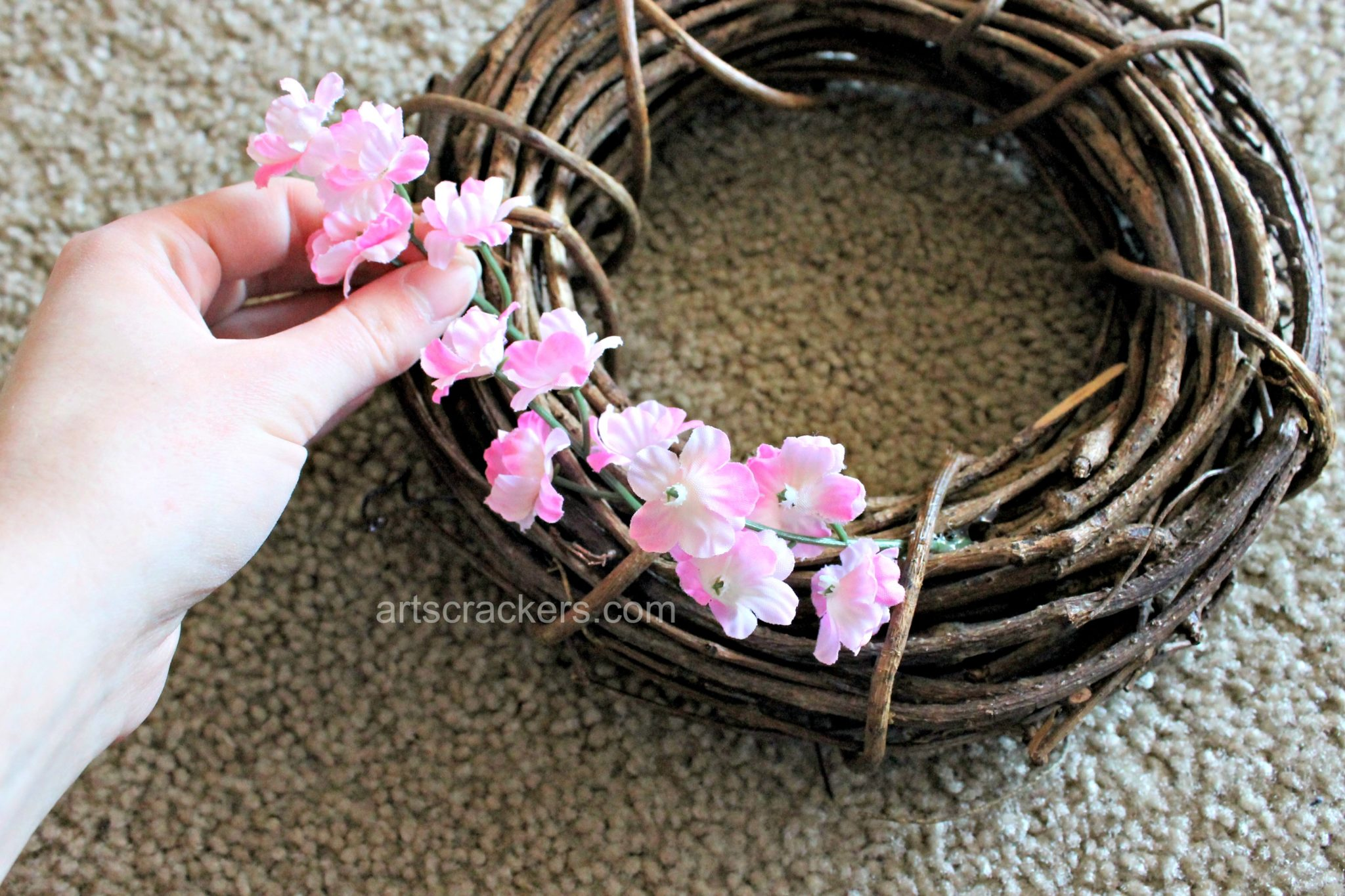 Spring Wreath DIY Step 2