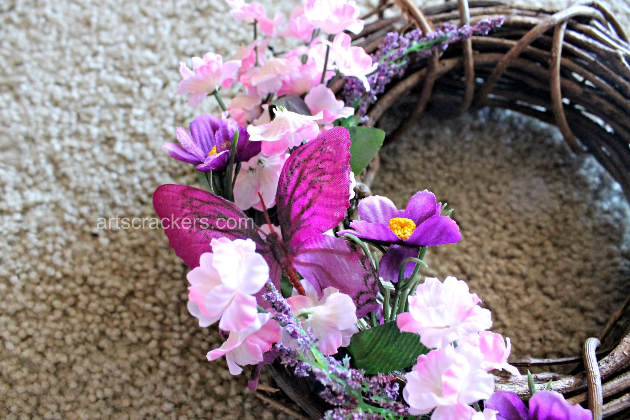 Spring Wreath DIY Step 5