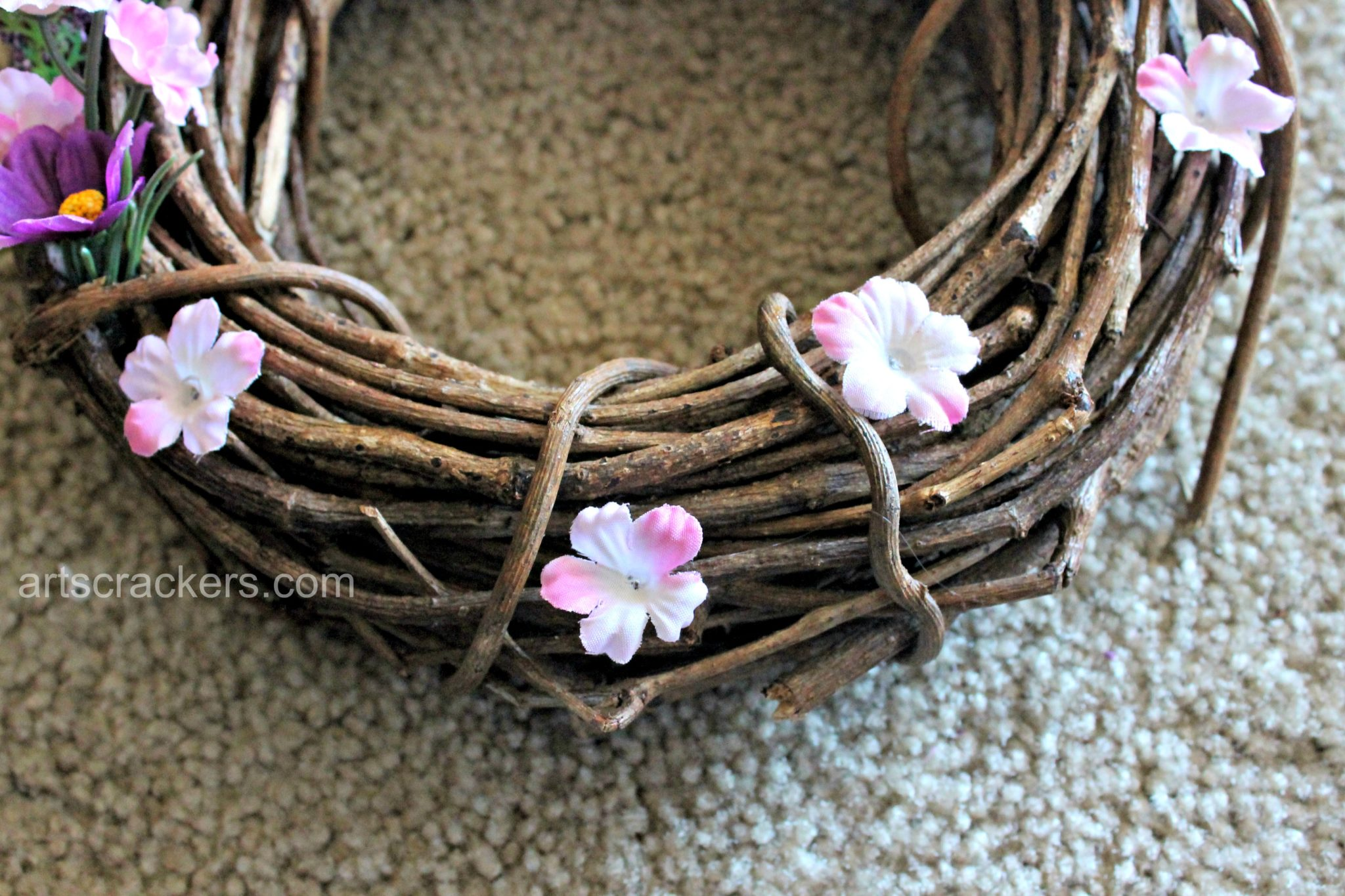 Spring Wreath DIY Step 6