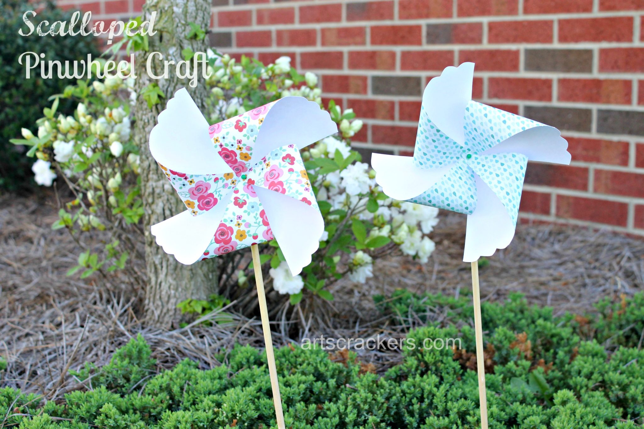 Scalloped Pinwheel Craft Fun. Click the picture for instructions.