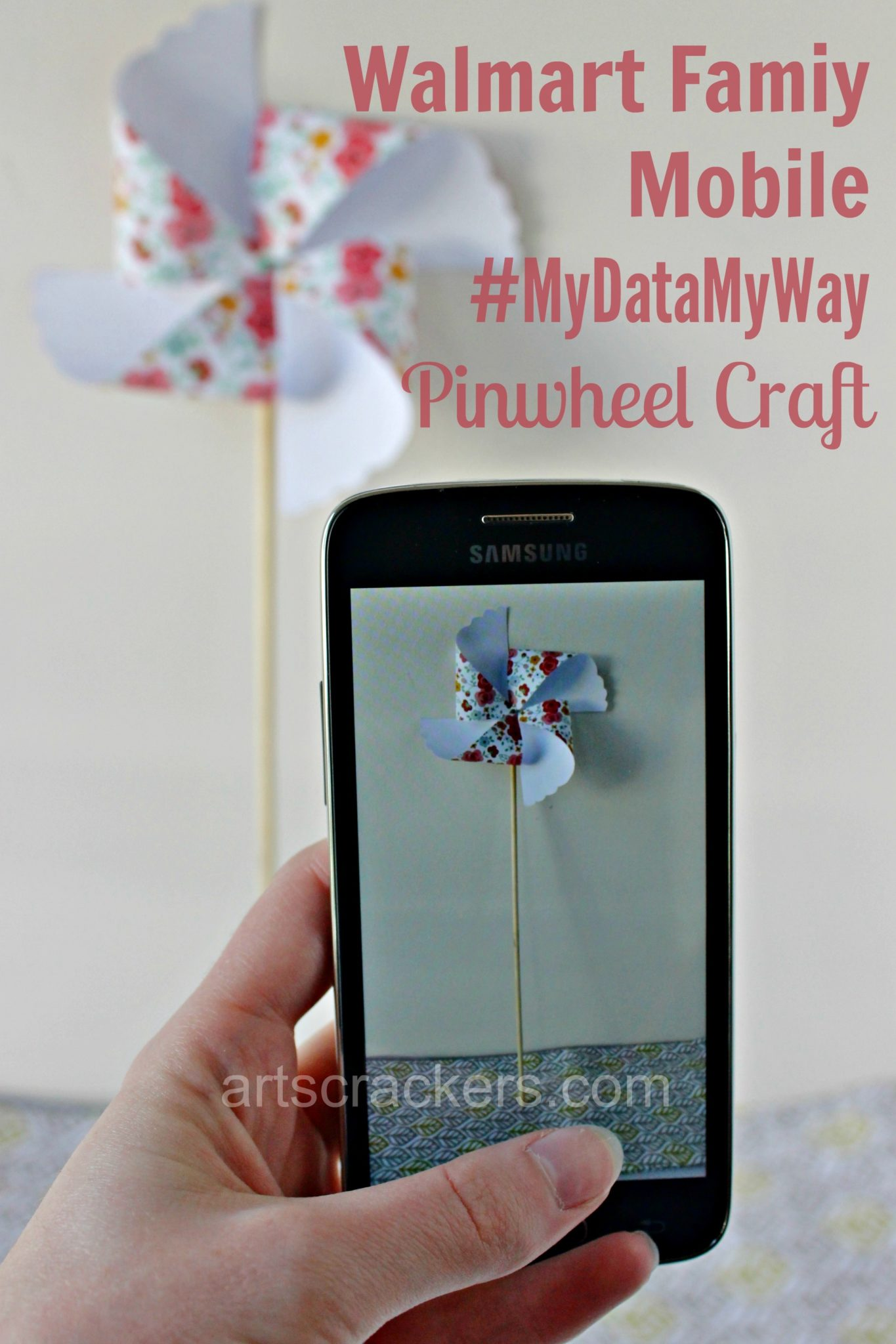 Walmart Family Mobile Pinwheel Craft. Click the picture to read the post.