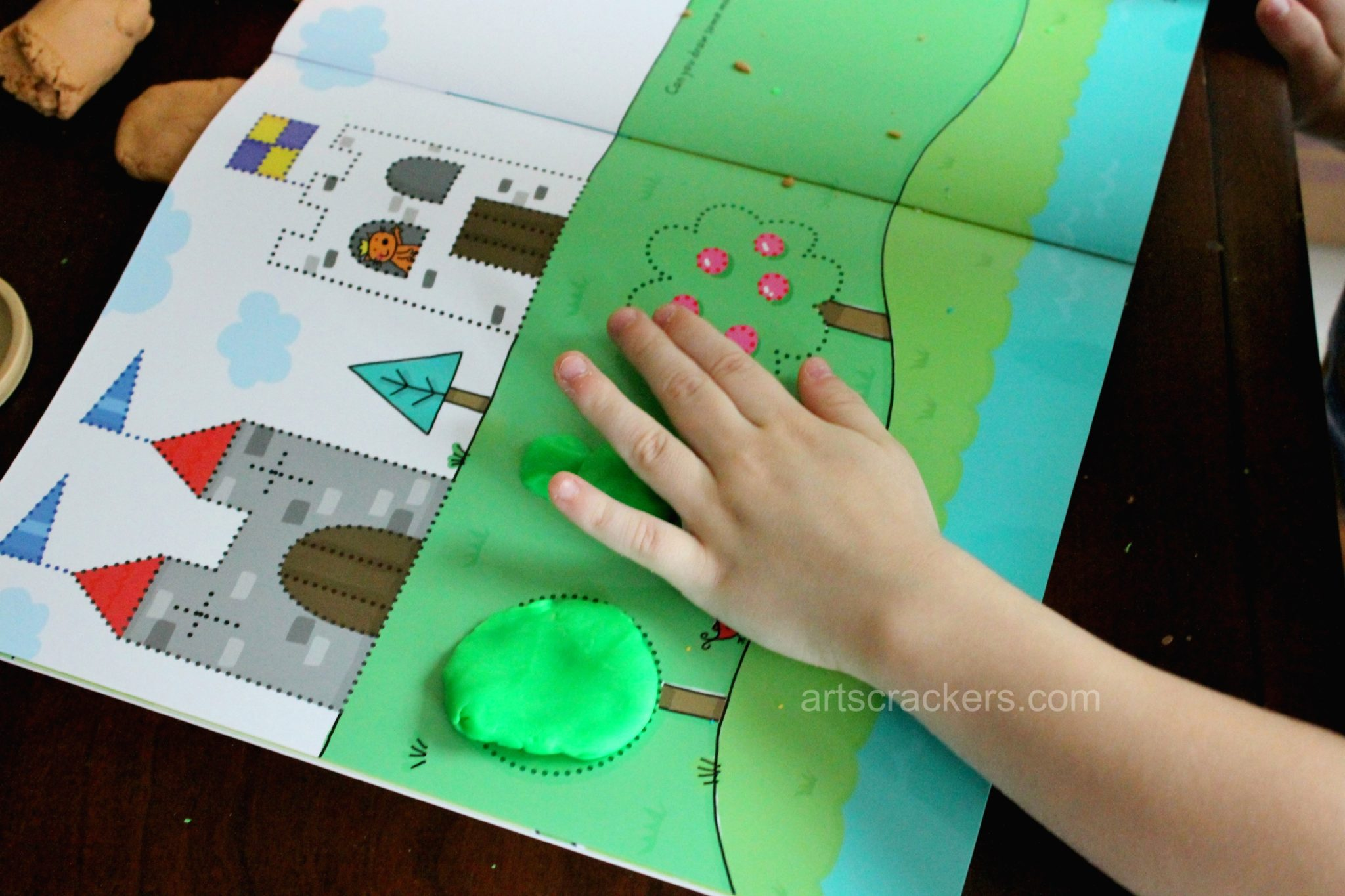 Wipe Clean Play dough Mats Shapes