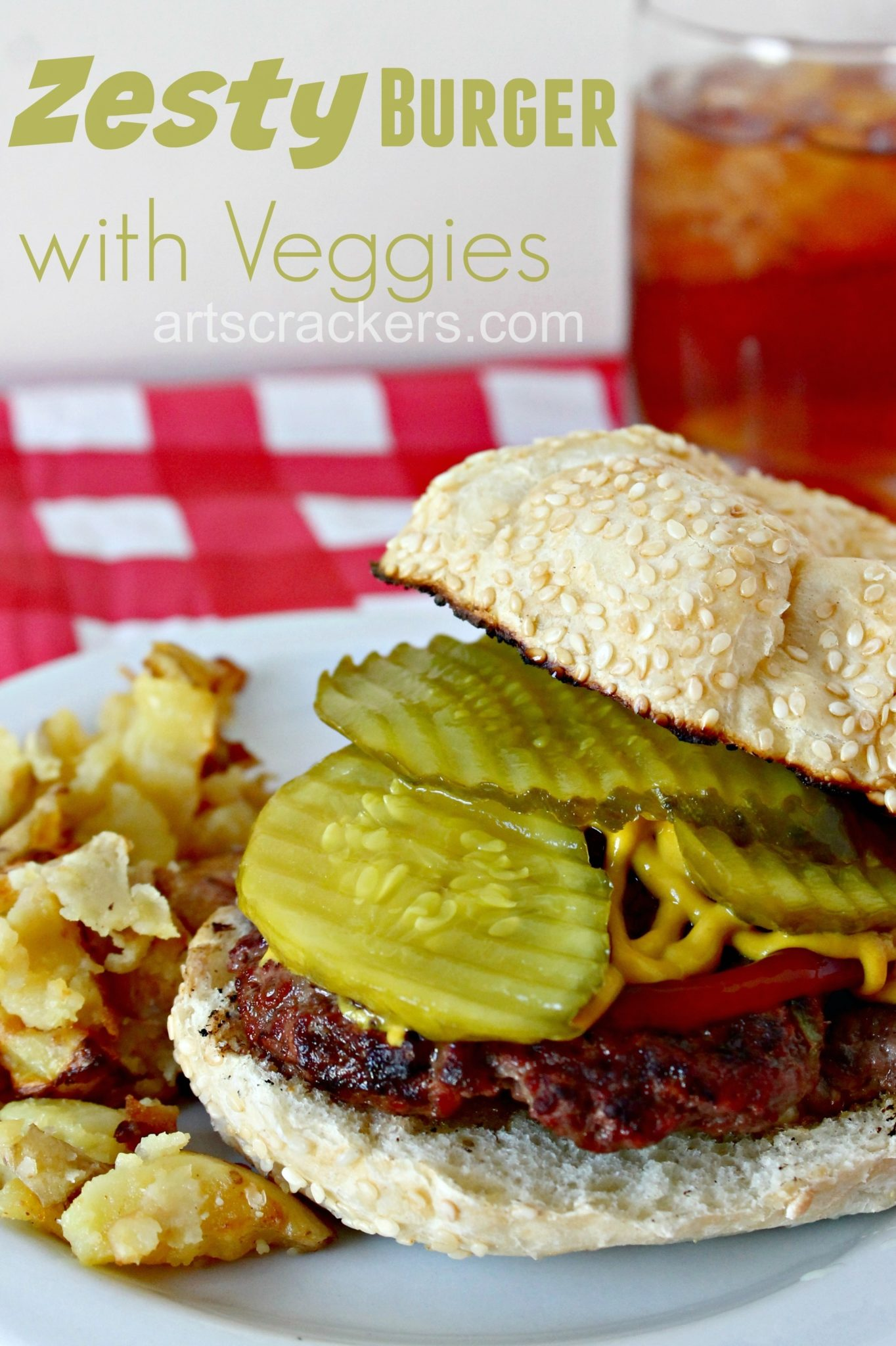 Delicious Zesty Burger with Veggies. Click the picture to get the recipe.