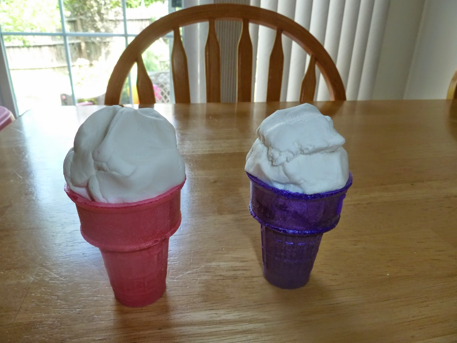 Ice Cream Play Dough Cones
