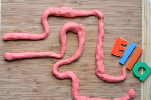 Play Dough Learning Your Name Maze