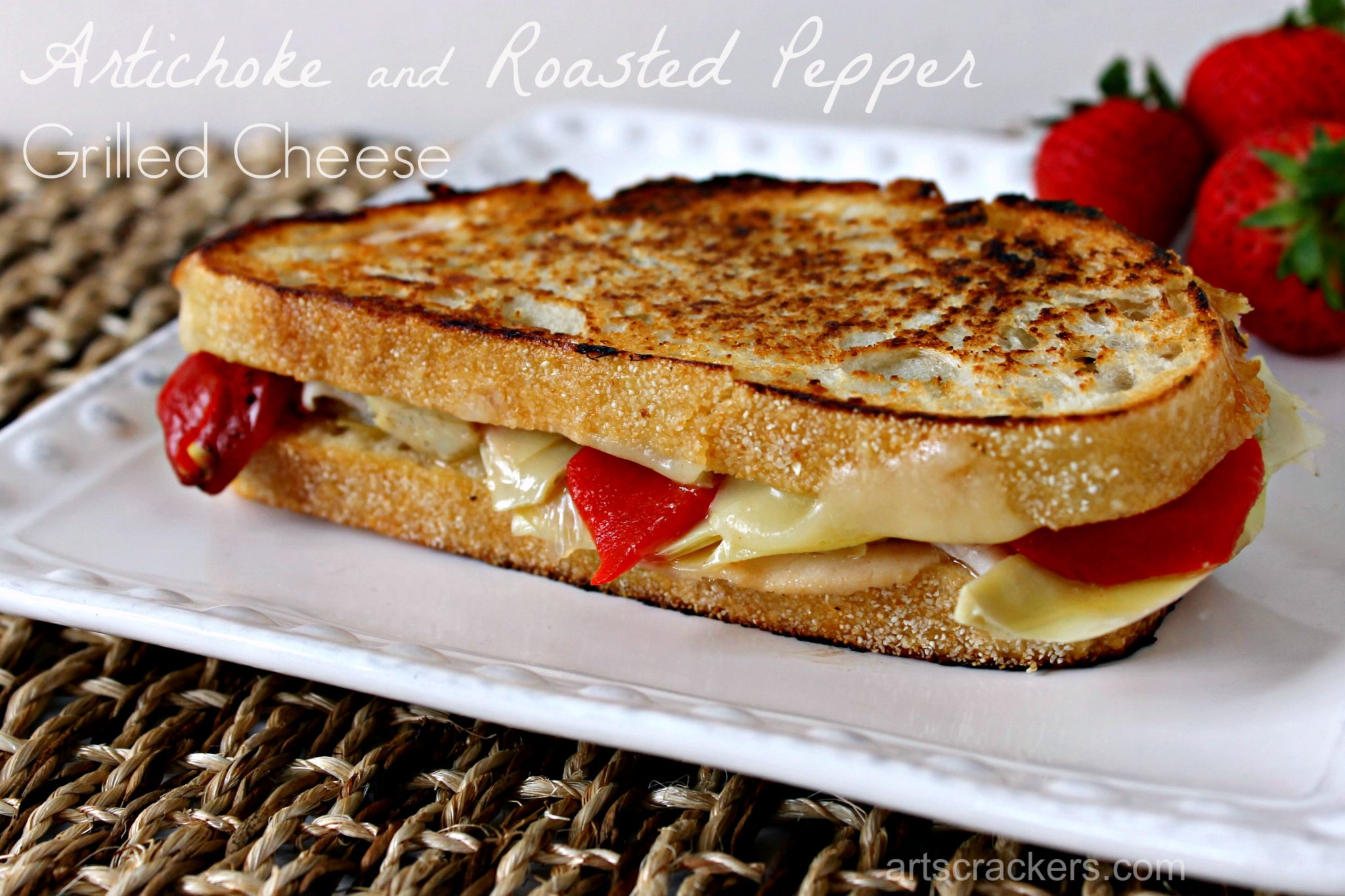 Artichoke and Roasted Pepper Grilled Cheese
