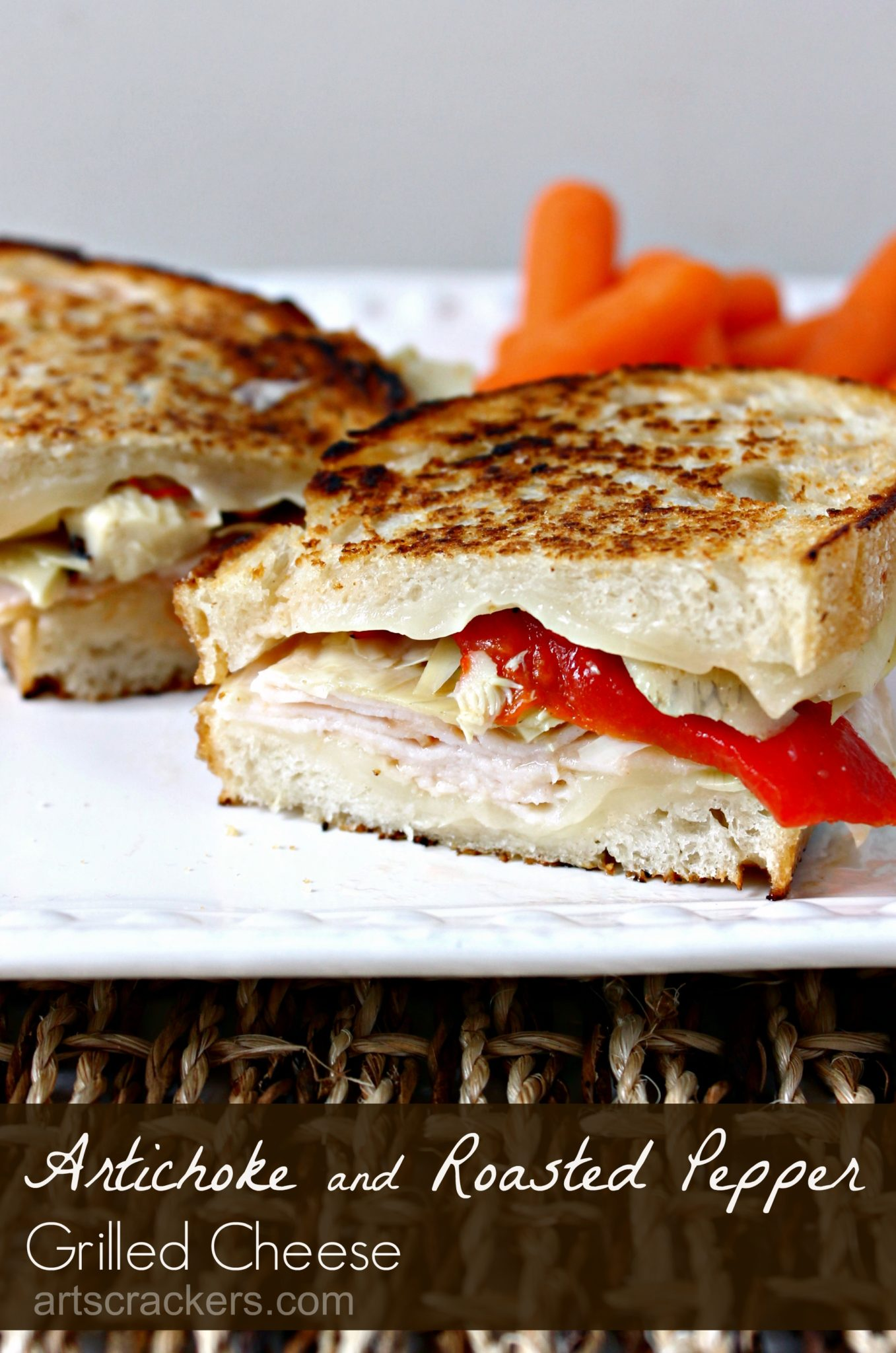 Artichoke and Roasted Pepper Grilled Cheese Recipe