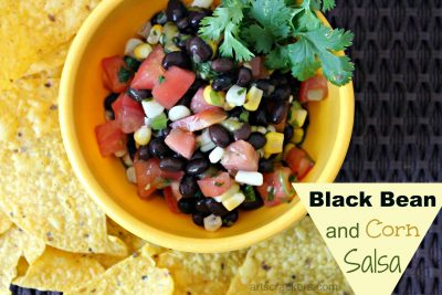 Black Bean and Corn Salsa. Click the picture for the recipe.
