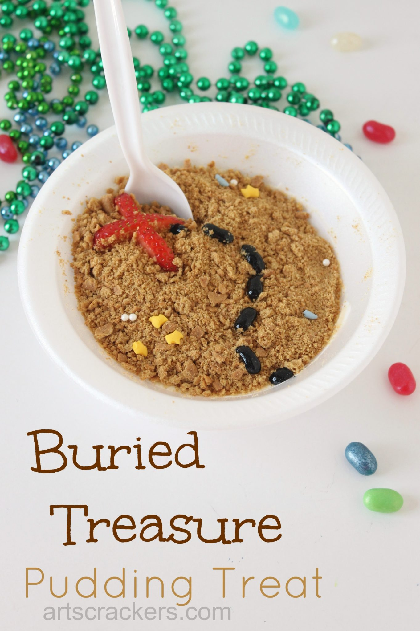 Buried Treasure Pudding Treat. Click the picture to get the tutorial.