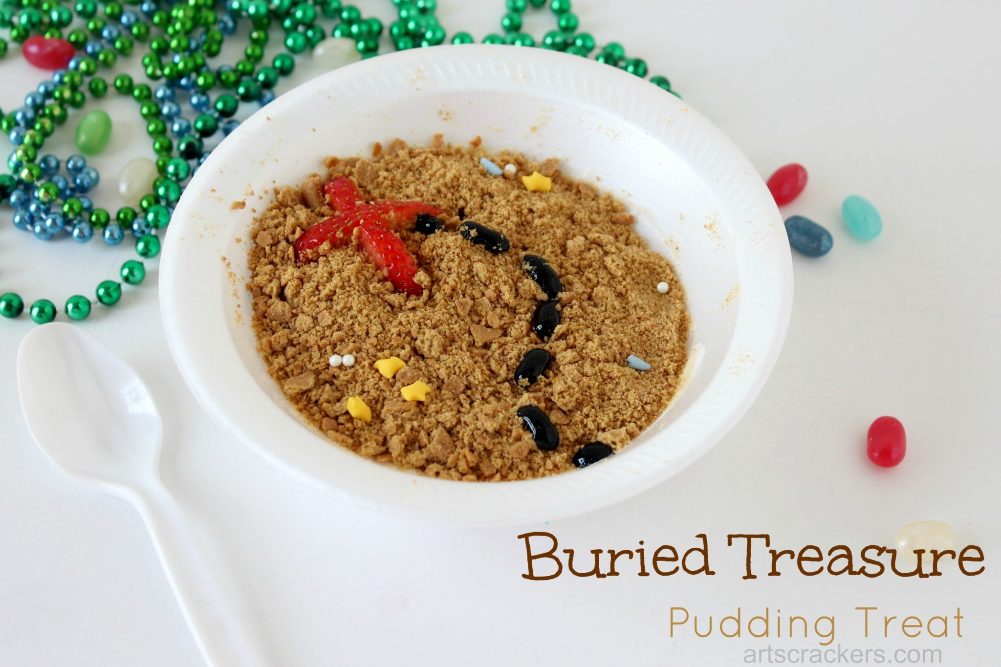 Buried Treasure Pudding. Click the picture to get the tutorial.