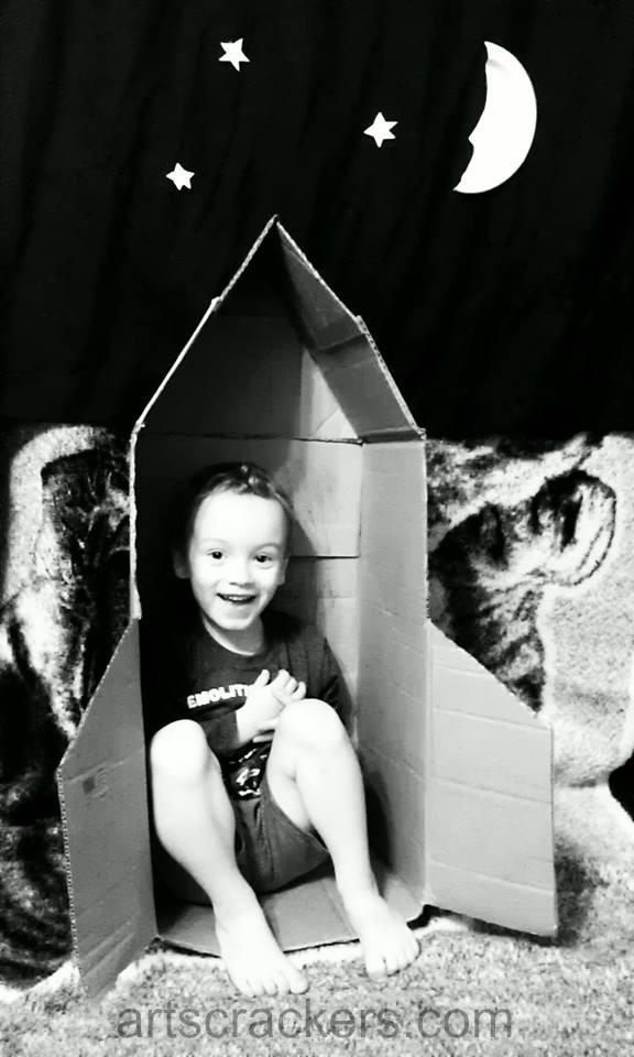 Cardboard Box Rocket Ship