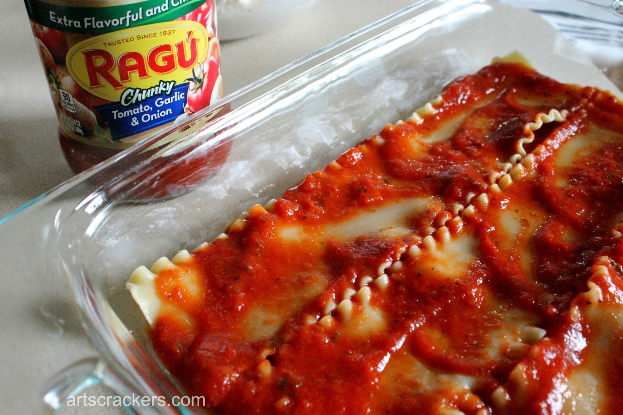 Chicken Parm Lasagna Step 4 | Arts & Crackers