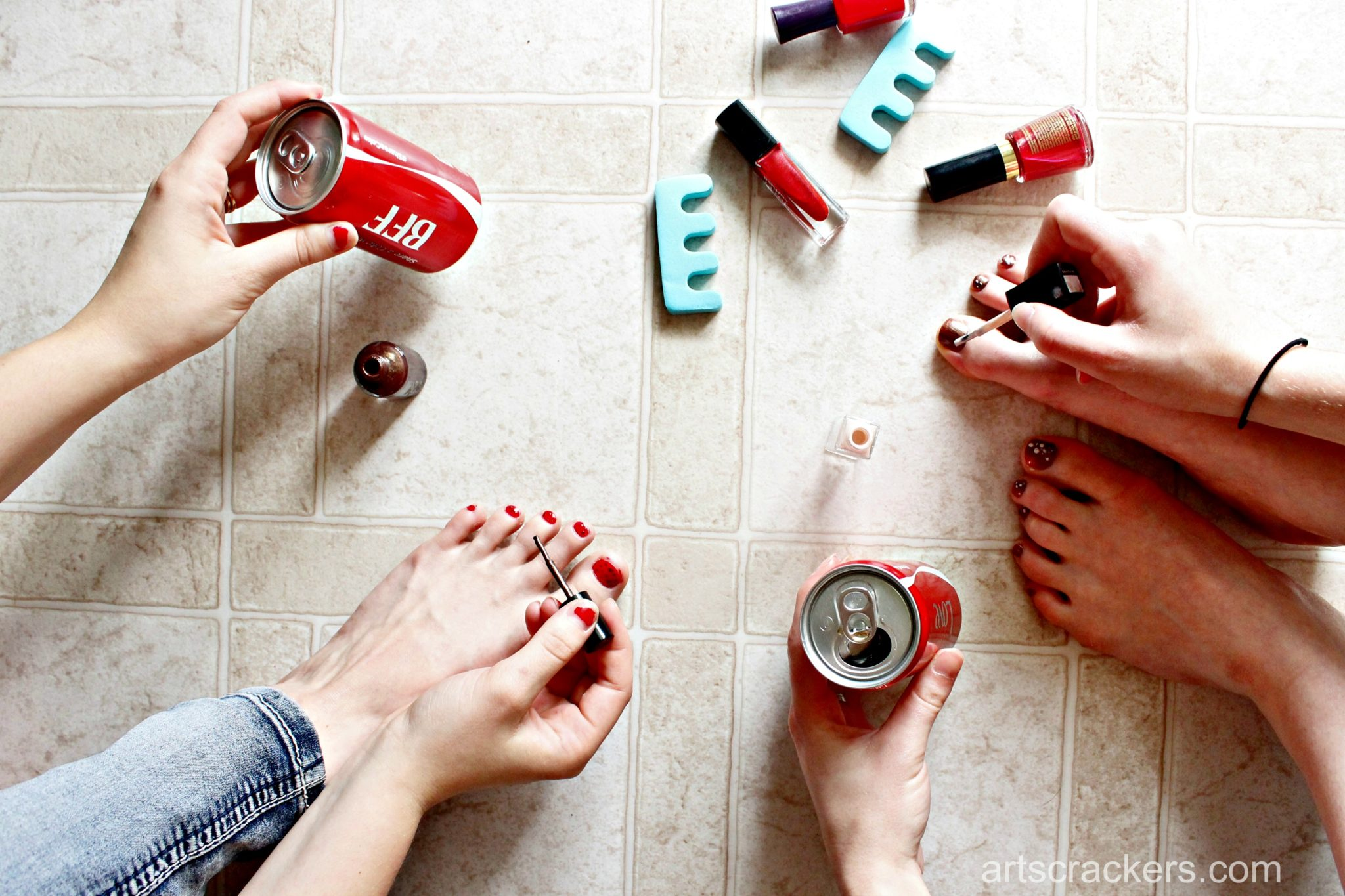 Coca-Cola Pedicure Girls Night