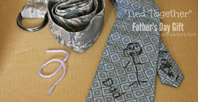 Fathers Day Tied Together Gift Set. Click the picture to view a tutorial.