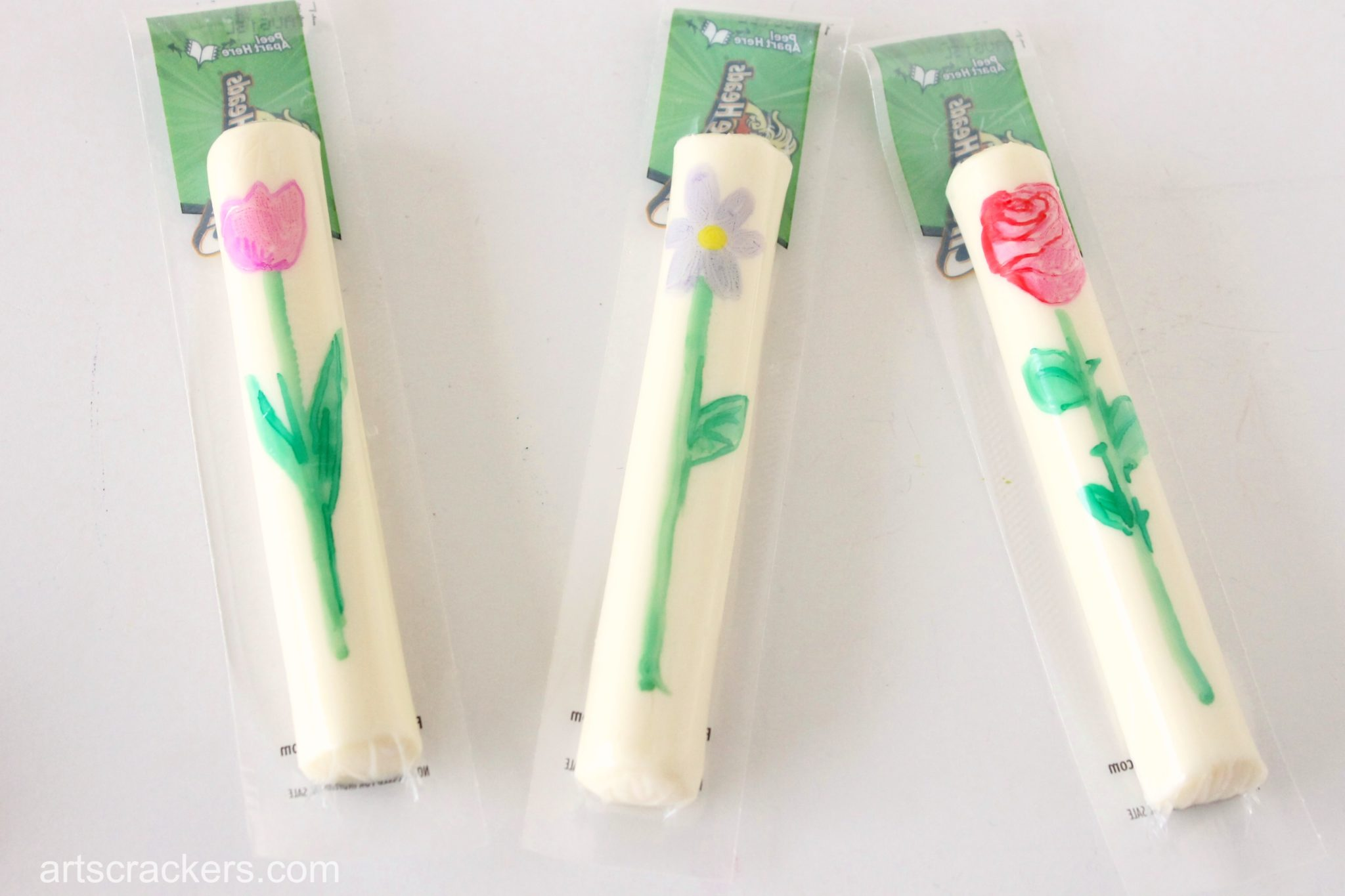 Flower Pot String Cheese Wrappers Step 4