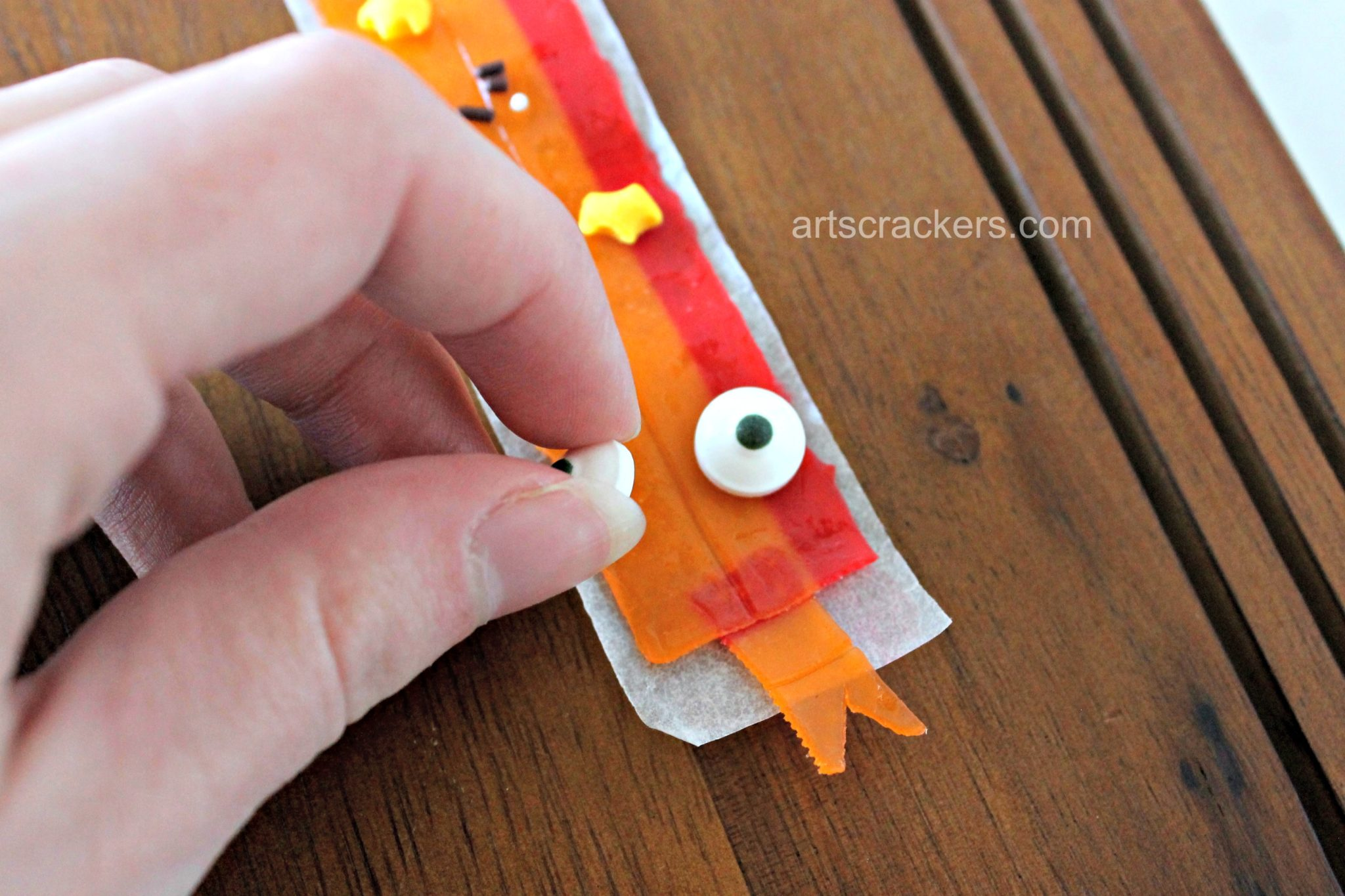 Fruit Roll Snake Snack Step 5
