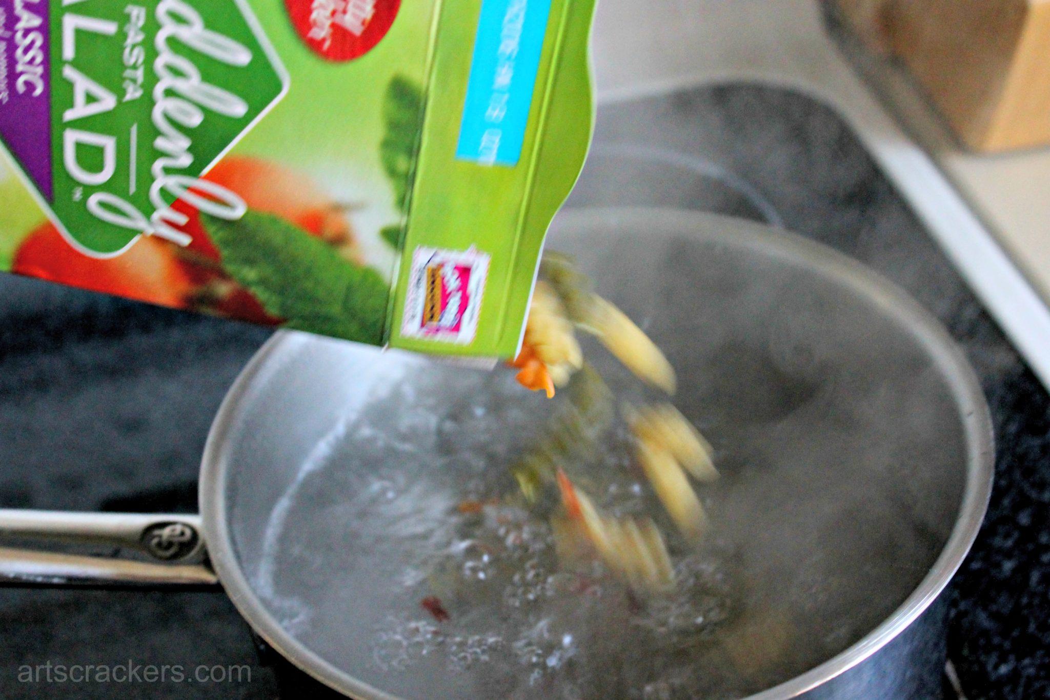 Garden Fresh Pasta Salad Step 1