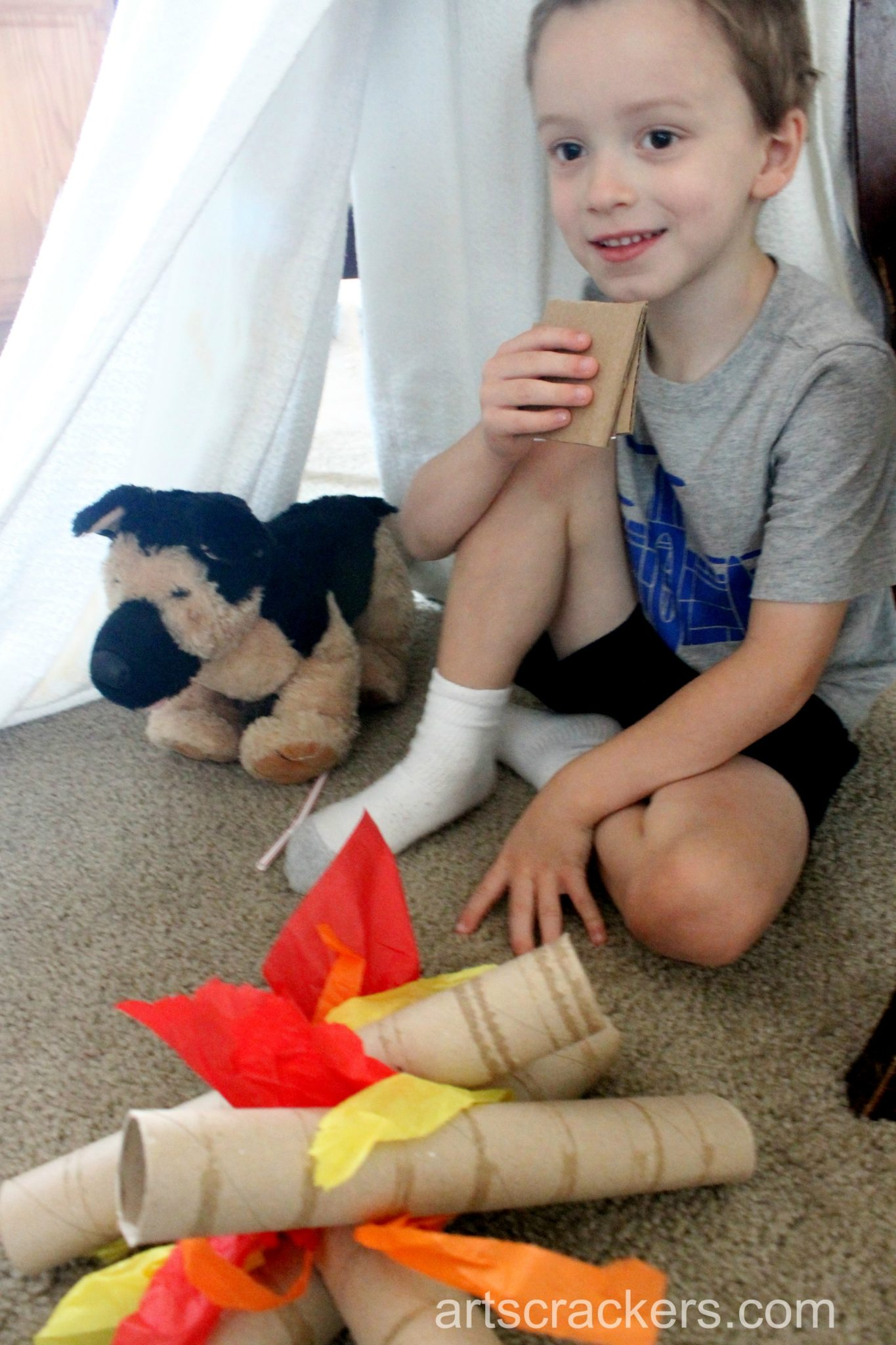 Indoor Camping Imaginative Play Smores Campfire