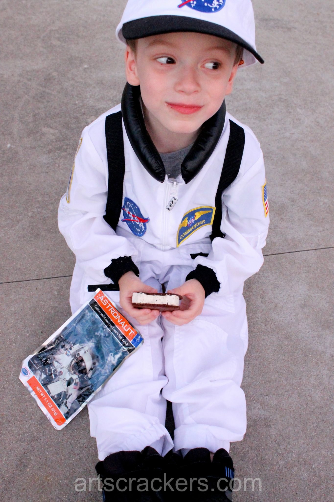 Jr Astronaut Eating Astronaut Ice Cream. Click the picture to read the review.