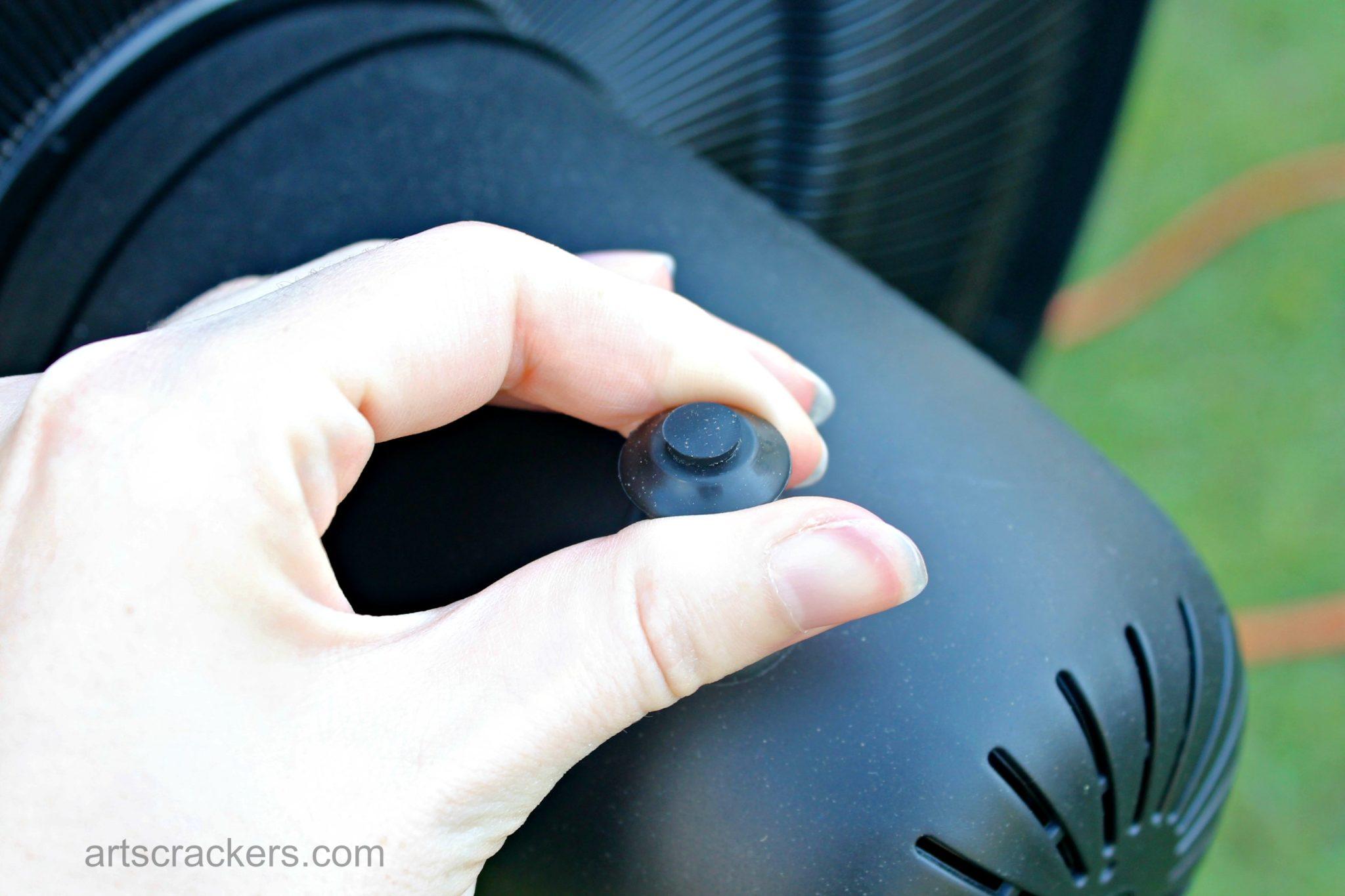 NewAir Outdoor Misting Fan Oscillating Button