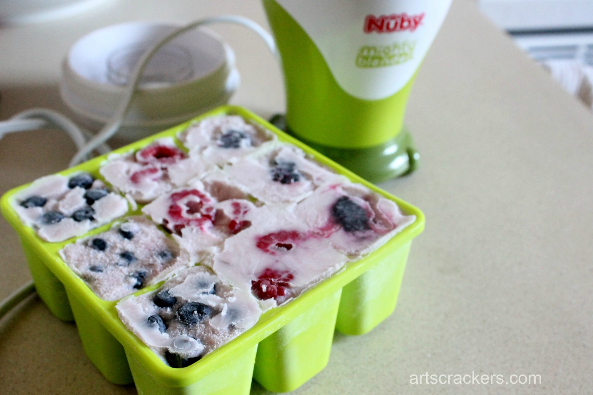 Nuby Garden Fresh Freezer Tray Smoothie Cubes Step 4