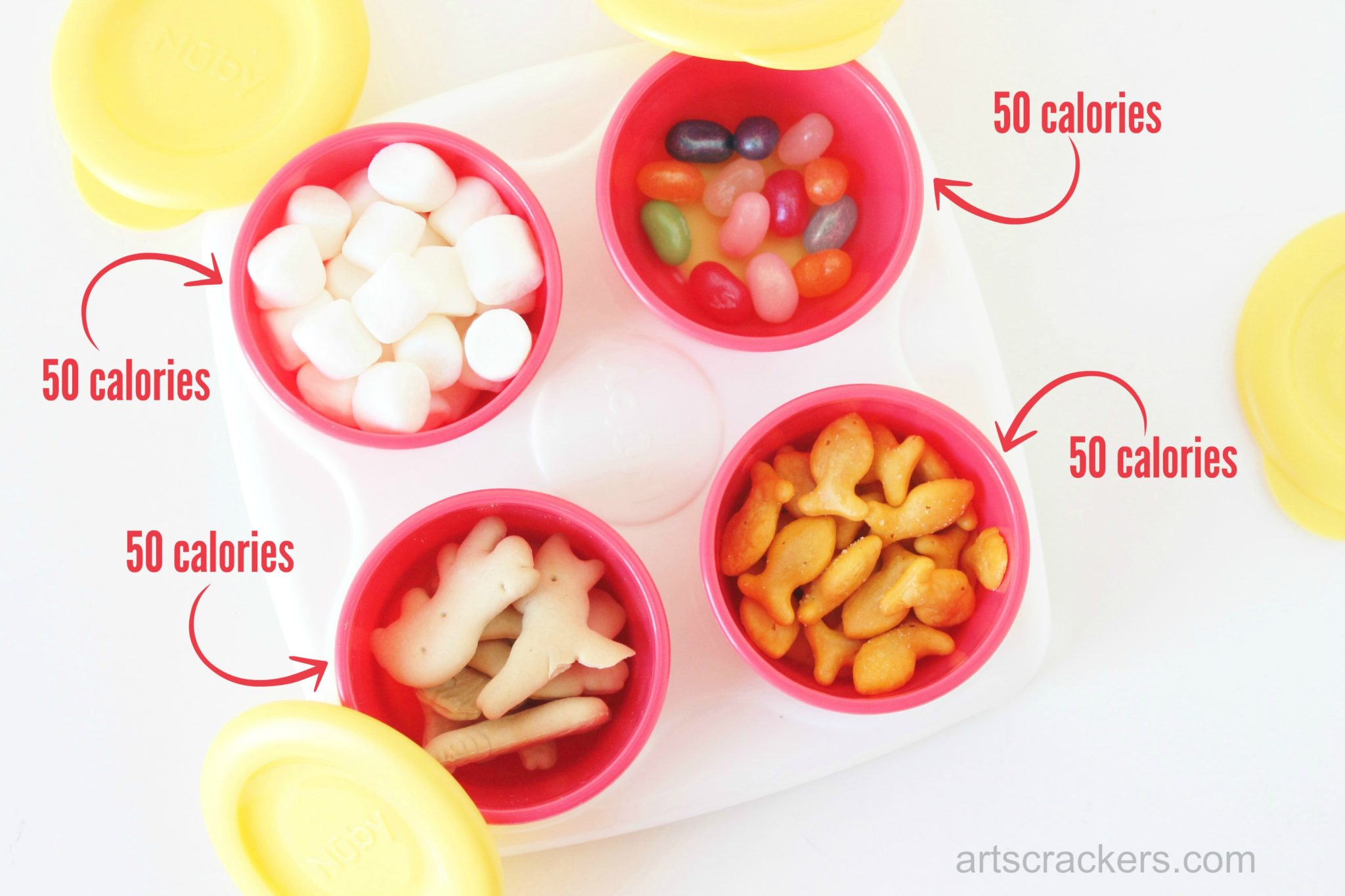 Nuby Garden Fresh Storage Pots 50 Calorie Snacks