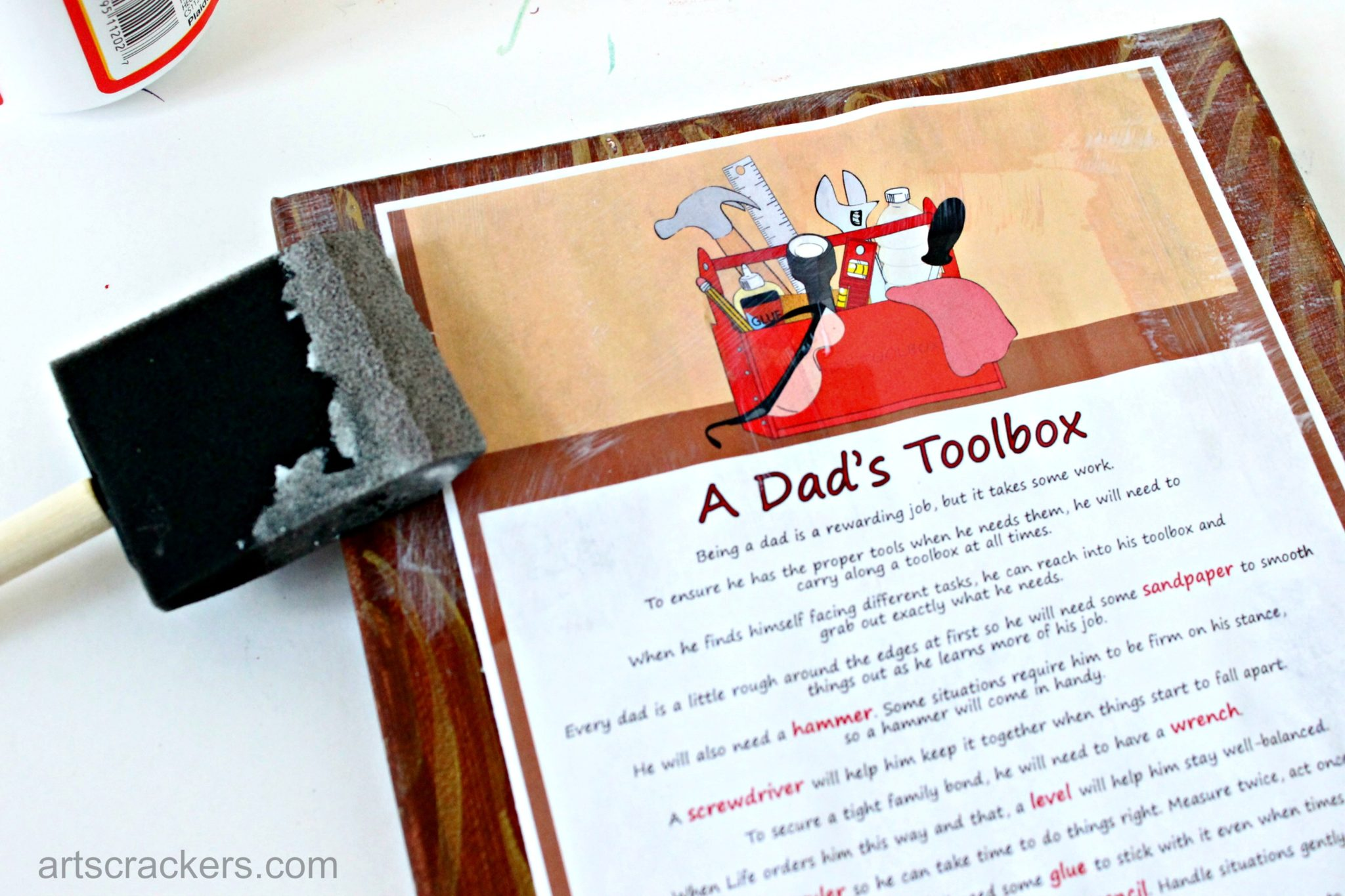 A Dads Toolbox Fathers Day Gift Step 3