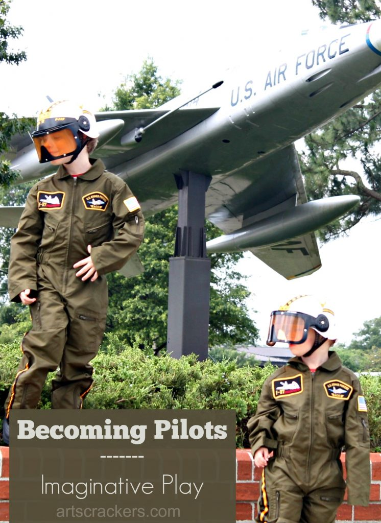 Becoming Pilots Imaginative Play with Costumes @CostumeExpress #everydaydressup AD