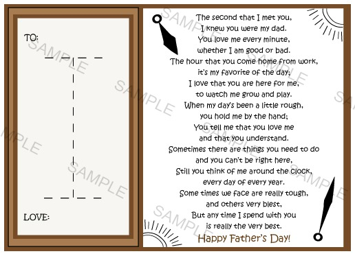 Father's Day Watch Holder Card