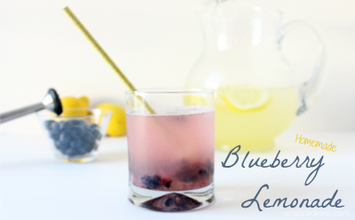 Homemade Blueberry Lemonade. Click for the recipe.