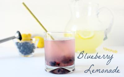 Homemade Blueberry Lemonade. Click for the recipe.
