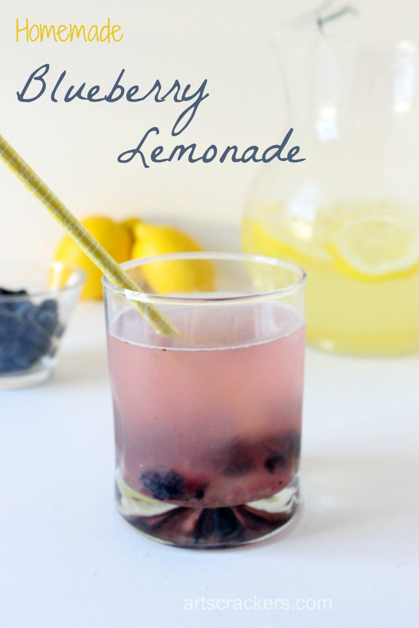Homemade Refreshing Blueberry Lemonade. Click for the recipe.