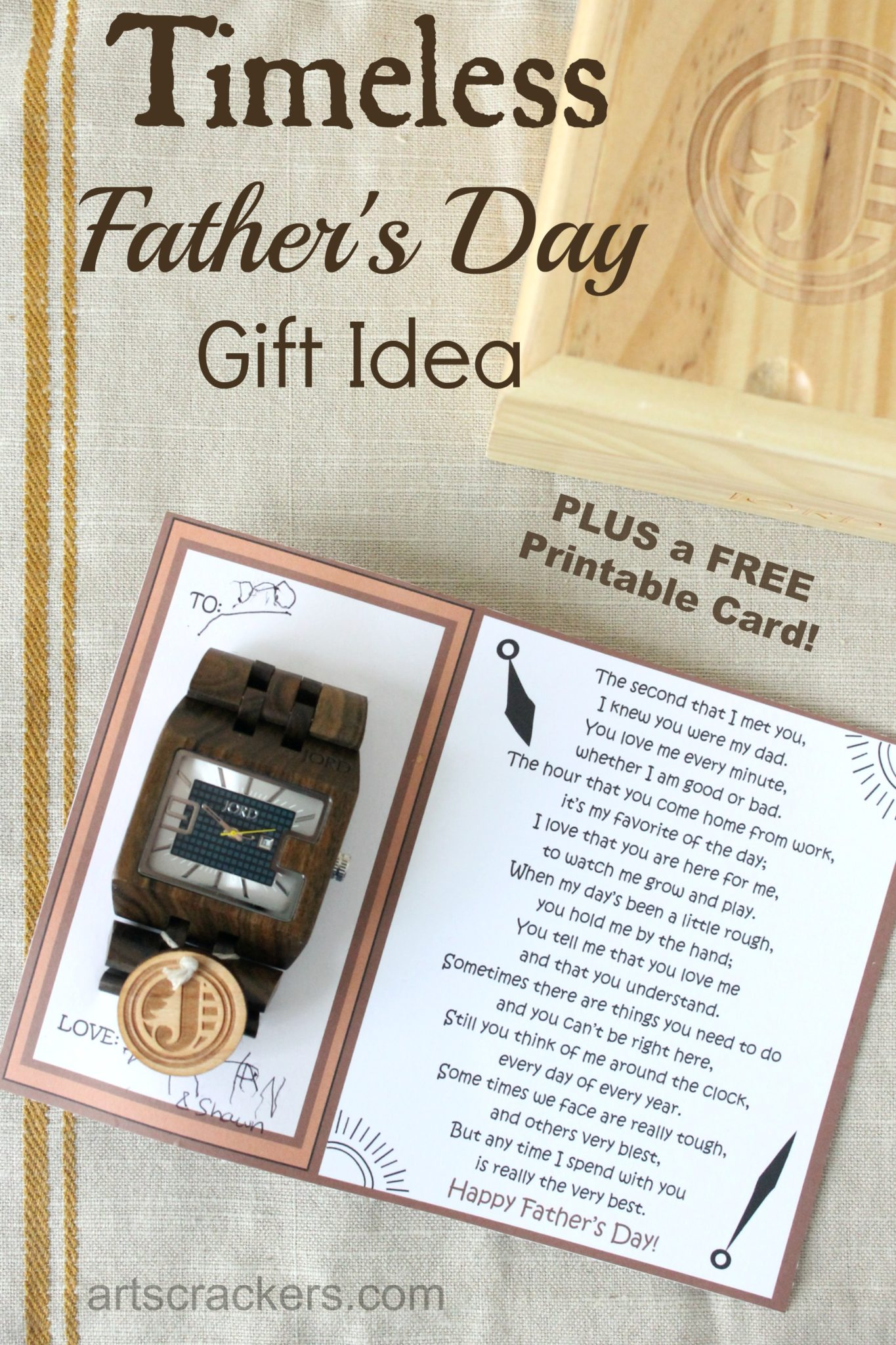 JORD Timeless Fathers Day Gift Idea and Printable Card