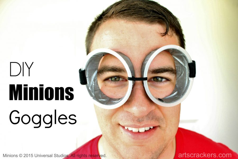 Minions Crafts with Mott's Goggles. Click the picture to view the tutorial.