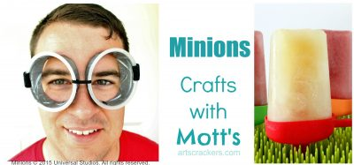 Minions Crafts with Motts Products. Click the picture to view the tutorial.