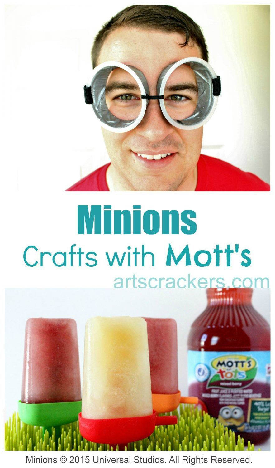 Minions Crafts with Motts. Click the picture to view the tutorial.