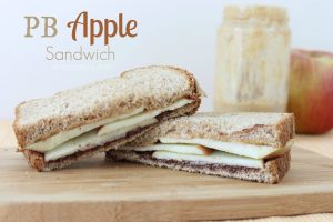 PB Apple Sandwich. Click the picture for the recipe.