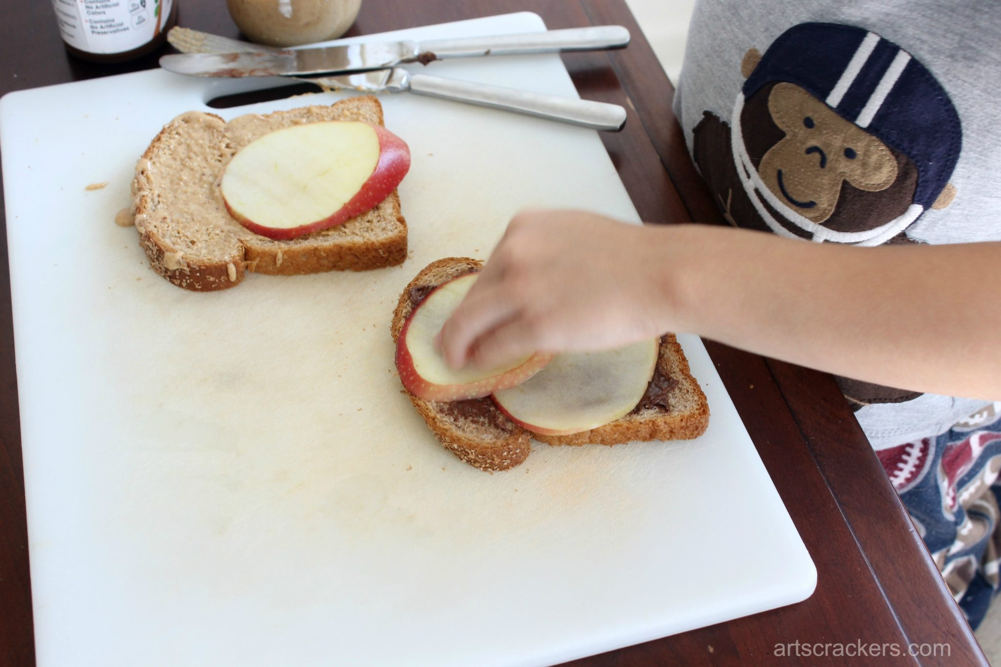 PB Apple Sandwich Apple Slices