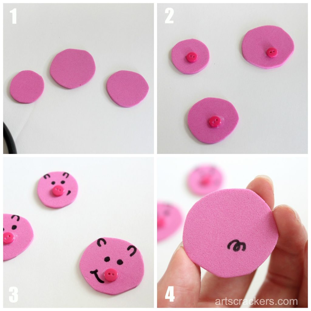 Three Little Piggies Foam Craft