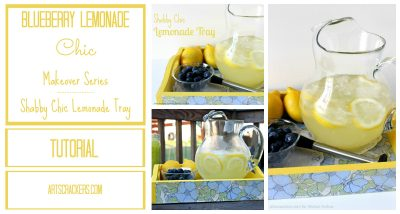 Blueberry Lemonade Chick Makeover Shabby Chic Lemonade Tray