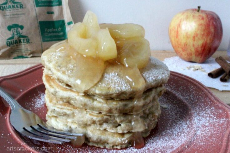Easy Instant Oatmeal Pancakes with Quaker Apples & Cinnamon