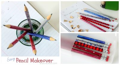 Easy Pencil Makeover for Back to School