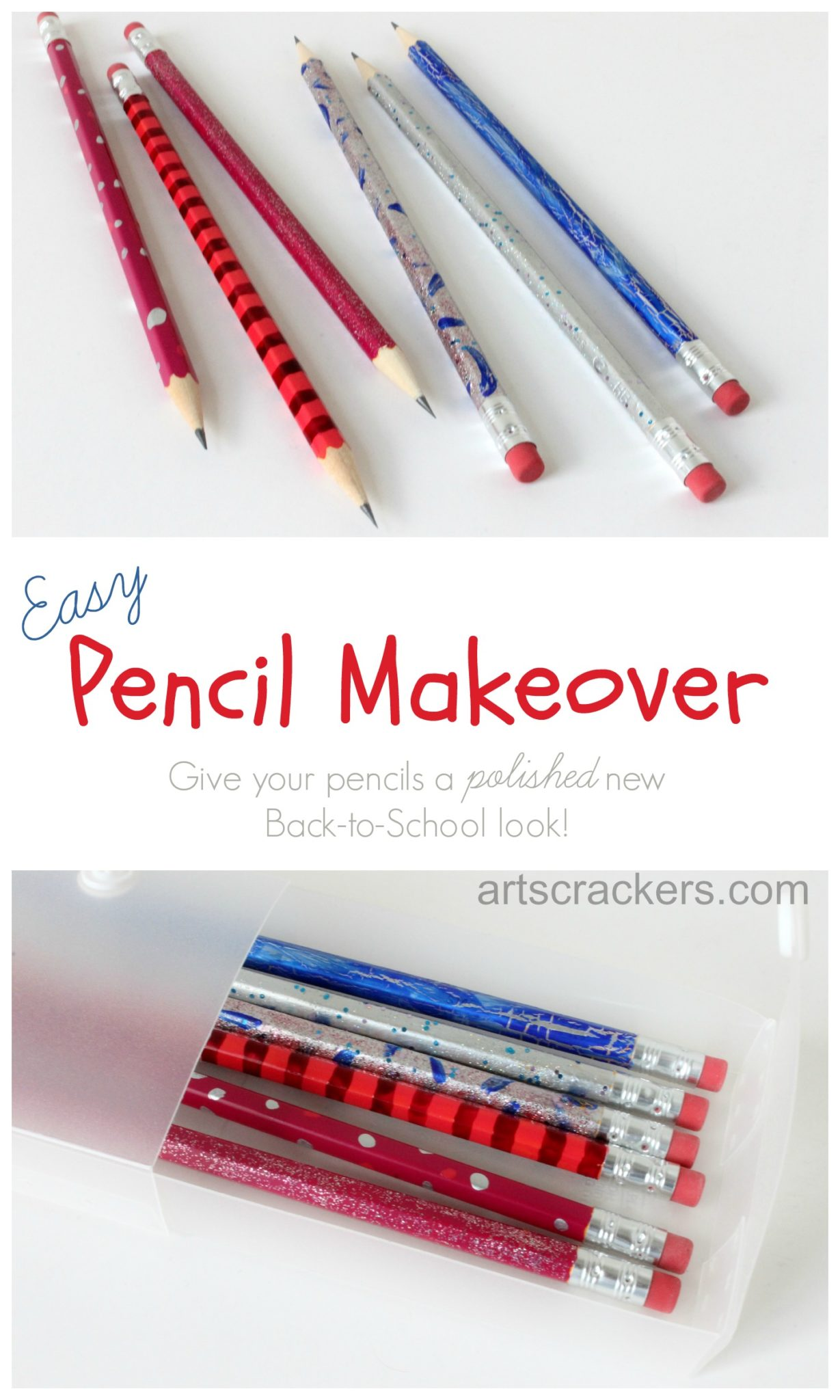 Back to School Easy Pencil Makeover for Teens and Tweens