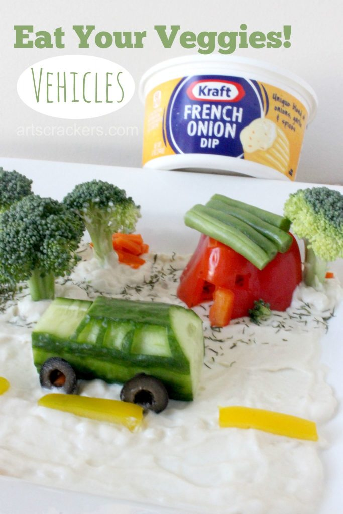 Eat Your Veggies Vehicles Kraft Dip Tutorial ad #DipYourWay