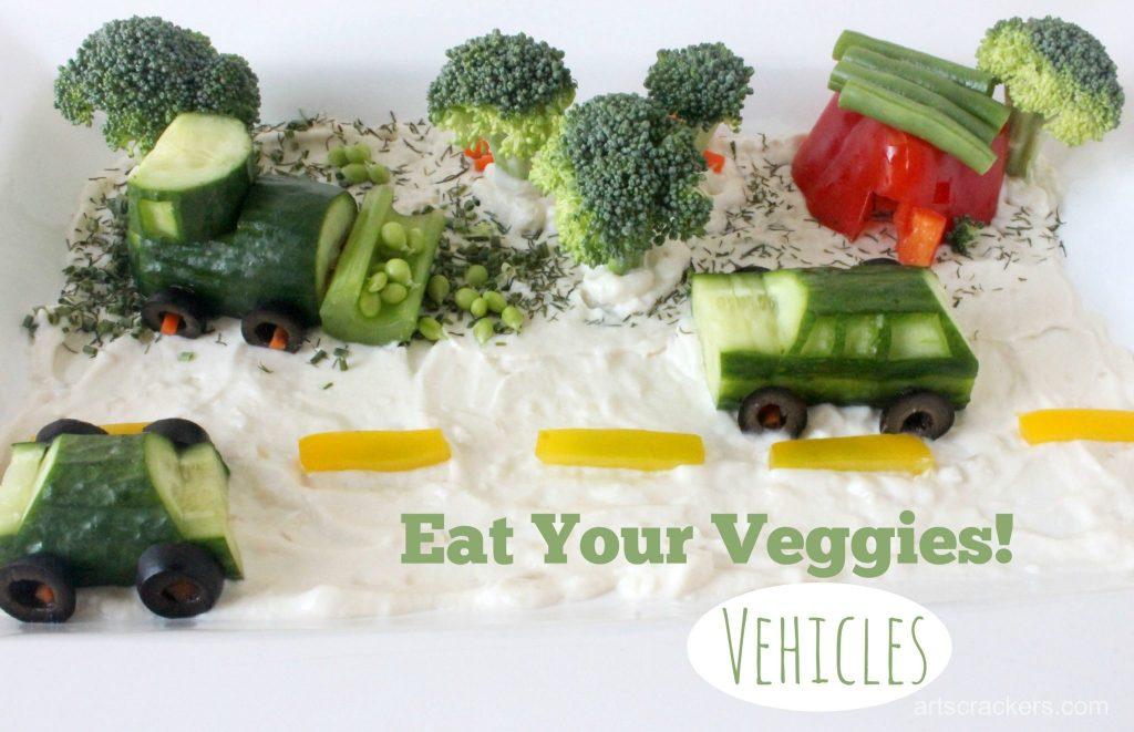 Eat Your Veggies Vehicles Tray Tutorial